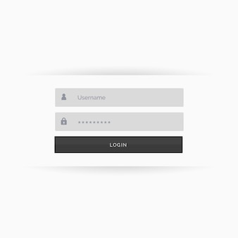 Web login template, white tones