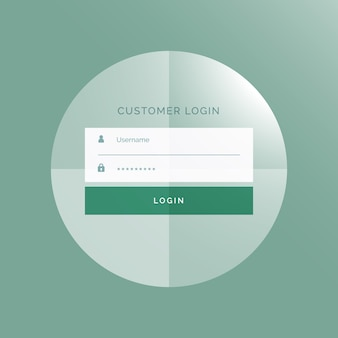 Web logon template, circular shape