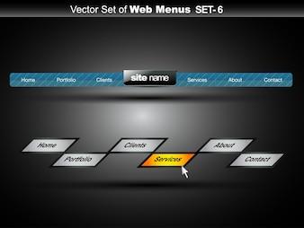 Web menu design