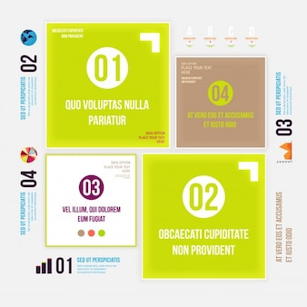 Web set stationery creative banner
