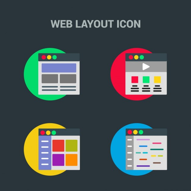 Web template, icons