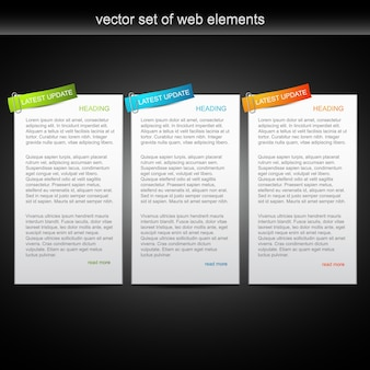 Web text template