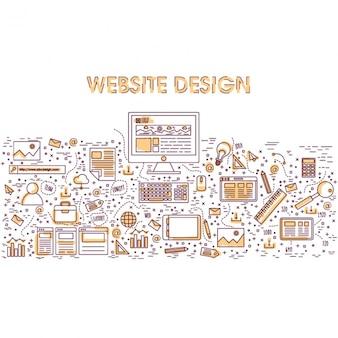 Website design with color details