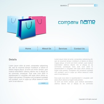 Website layout in sale theme