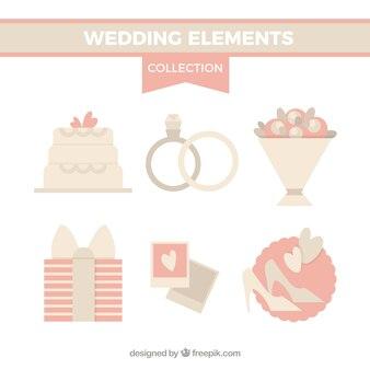 Wedding accessories in soft tones