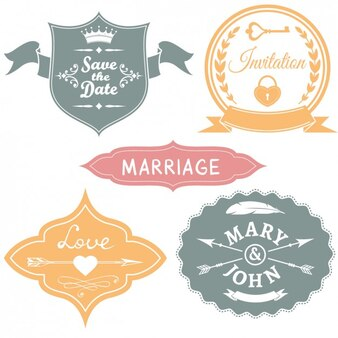 Wedding badges collection