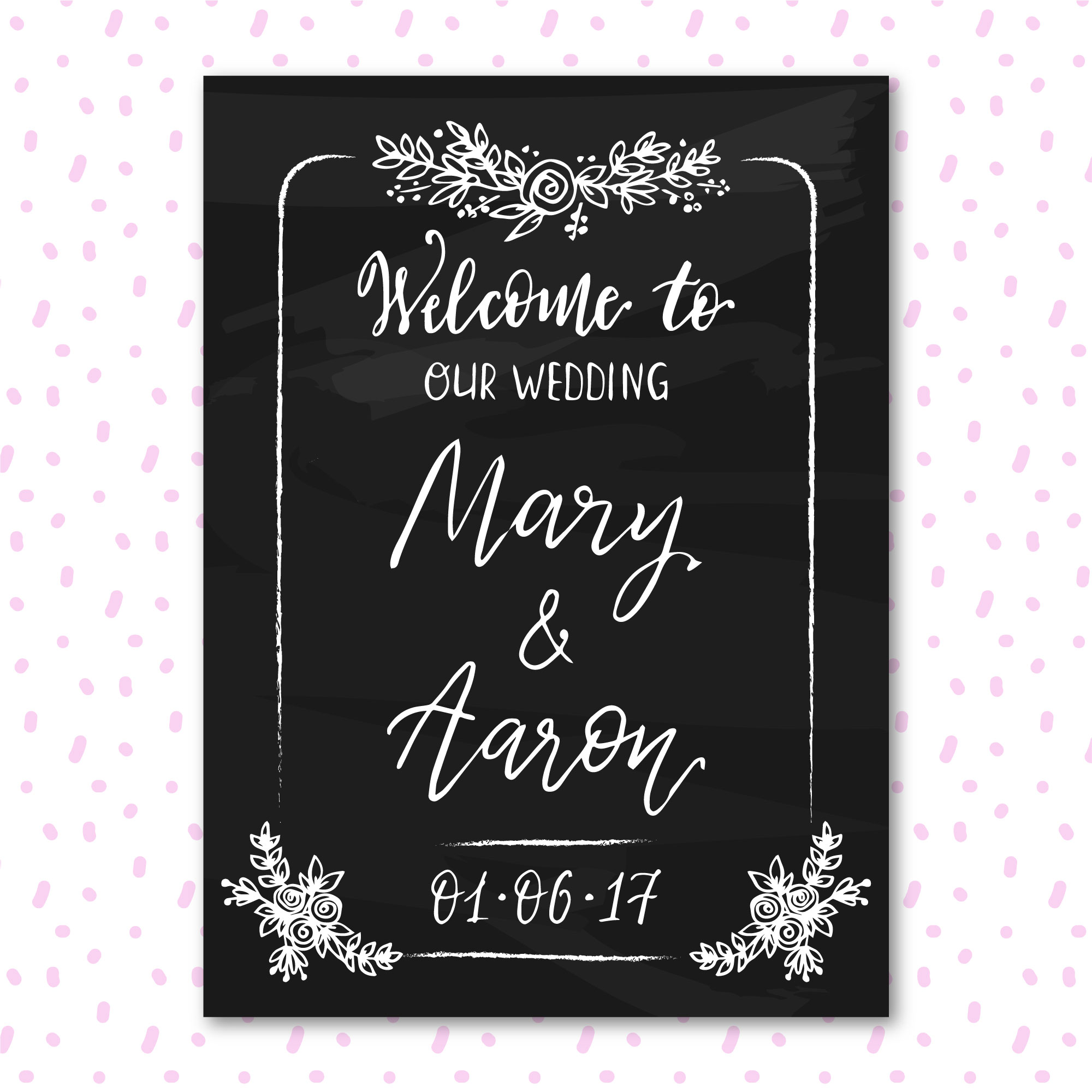 Wedding blackboard design