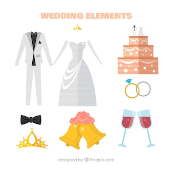 Wedding cake with other elements