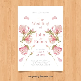 Wedding card floral design