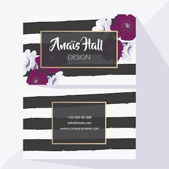 Wedding card with black lines