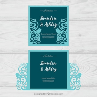 Wedding cards with laser cut