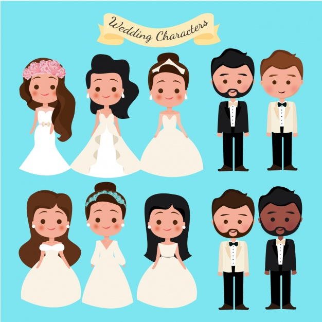 Wedding characters collection