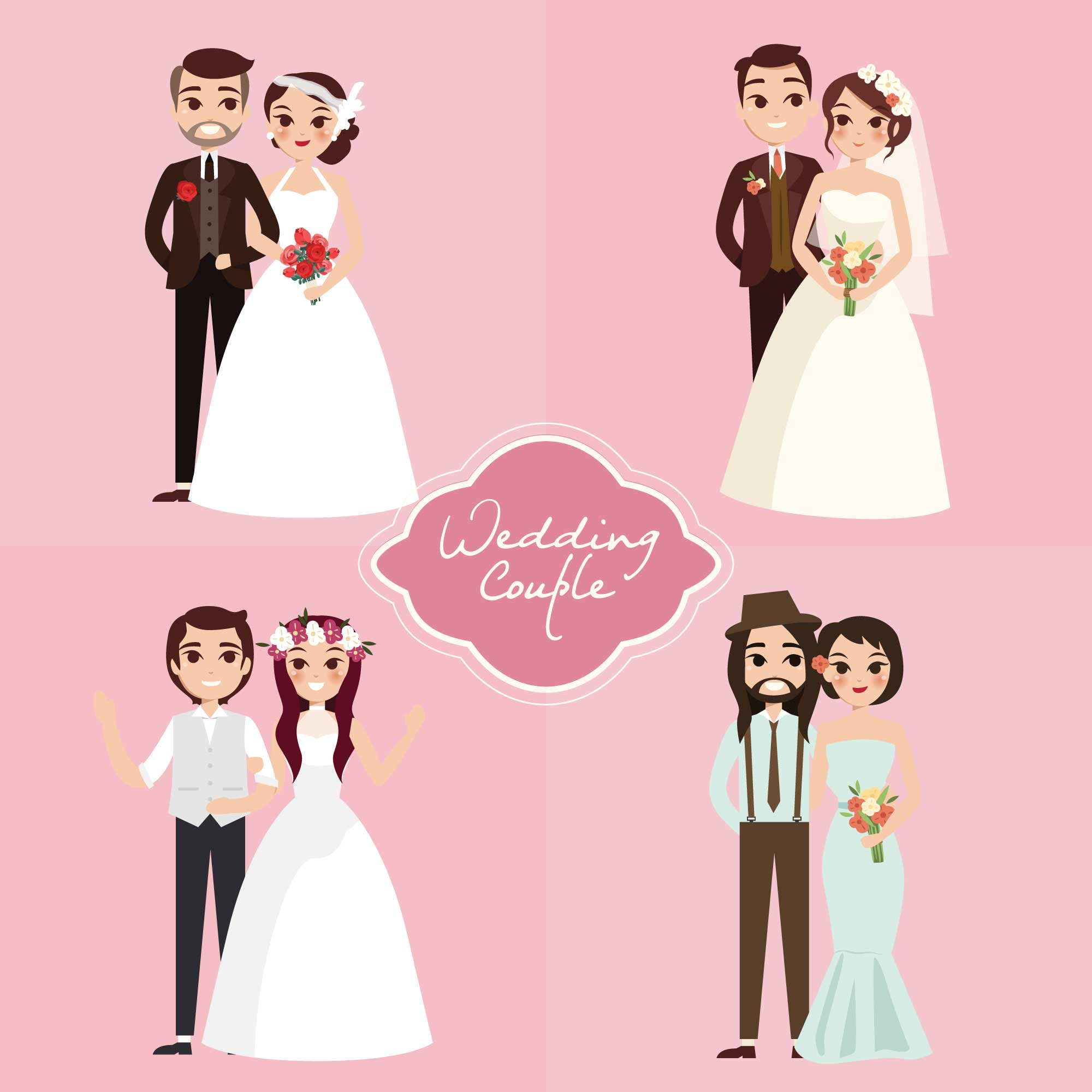 Wedding couples collection
