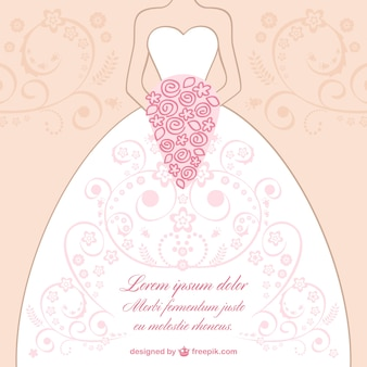 ウェディングドレスのレースのデザインベクトル