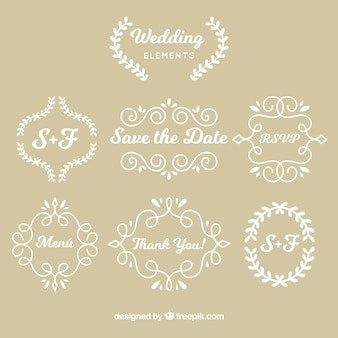 Wedding elements with vintage style