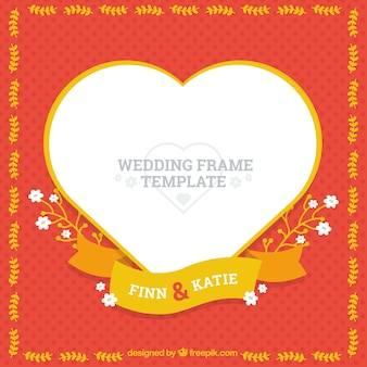 Wedding frame template