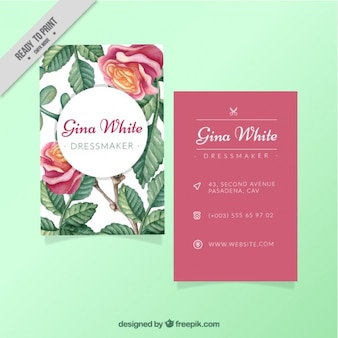 Wedding invitation, floral theme