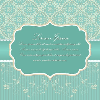 Свадебное приглашение и объявление карты с винтажным фоном. Элегантный богато дамасский фон. Элегантный цветочный абстрактный орнамент. Шаблон дизайна.