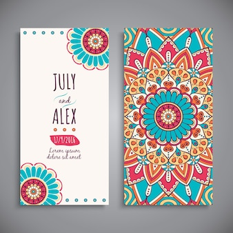 Wedding invitation, mandala