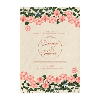 Wedding invitation poster template