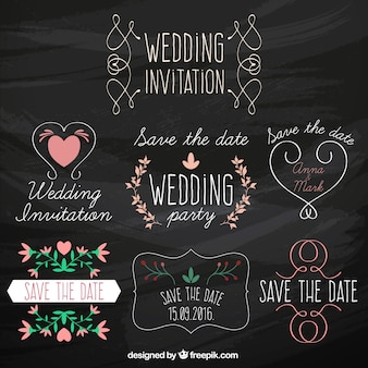 Wedding invitation stickers collection