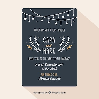 Wedding invitation with elegant style