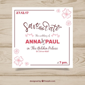 Wedding invitation with lovely frame