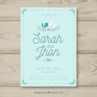 Wedding invitation with lovely style