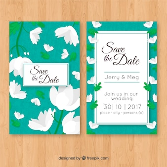Wedding invitation with pretty jasmine
