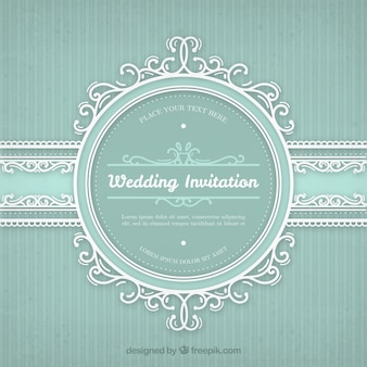 Wedding invitation with vintage frame