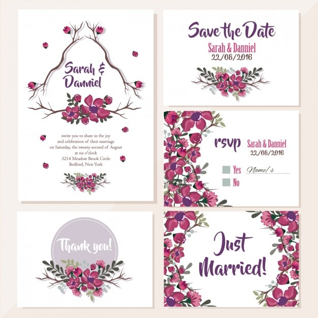 Editable wedding invitation Vector | Free Download