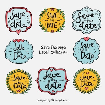 Wedding labels with funny style