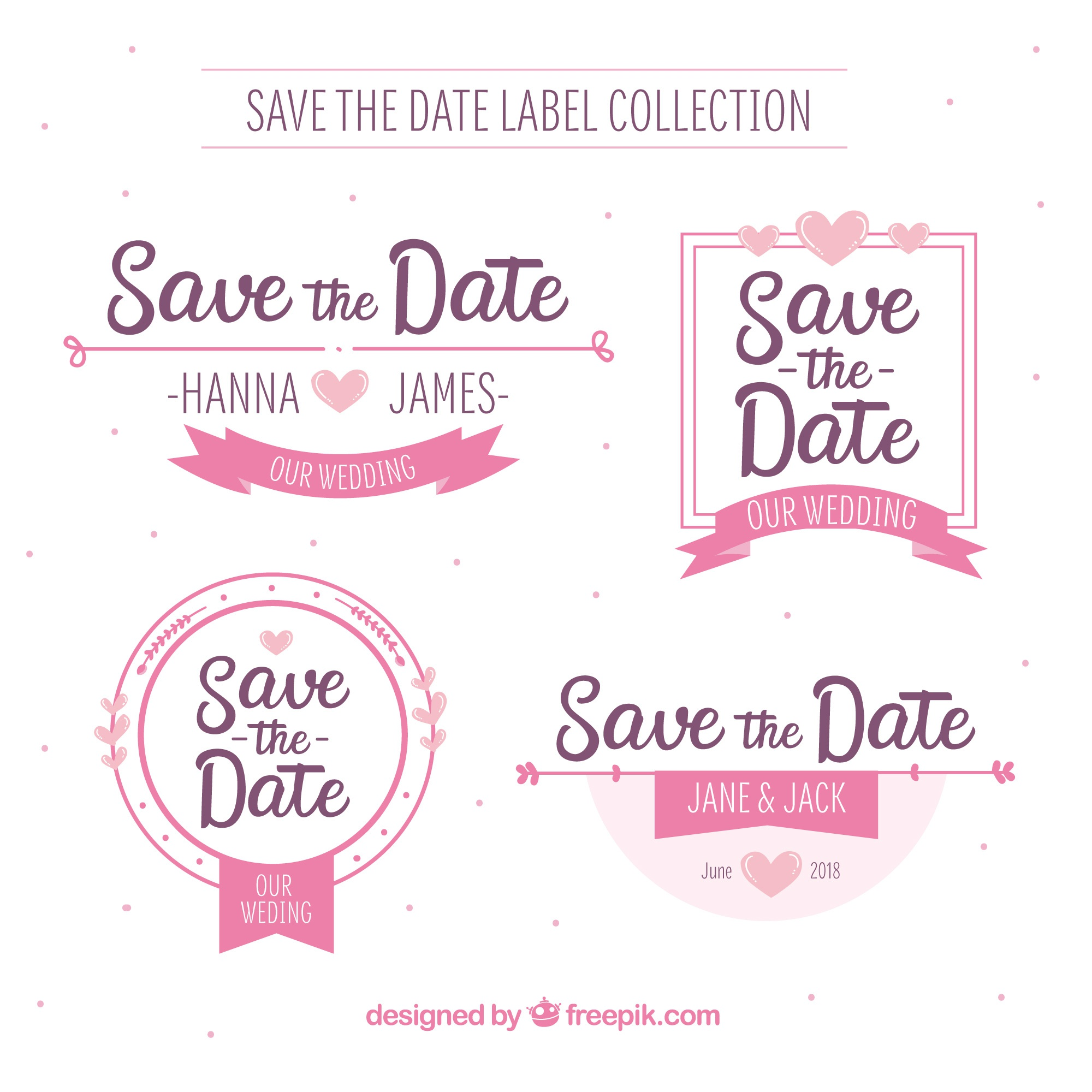 Wedding labels with lovely style