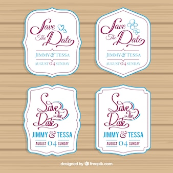 Wedding labels with modern style