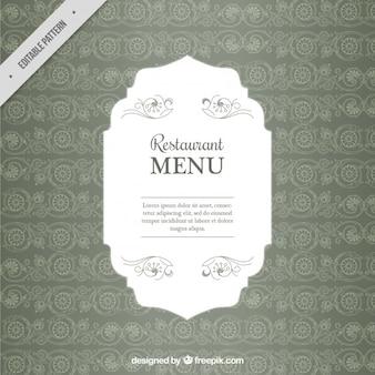 Wedding menu pattern