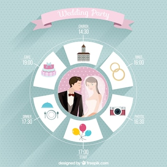 Wedding Party Flat Icons
