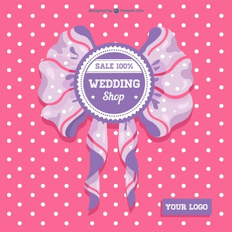 Wedding sale ribbon card