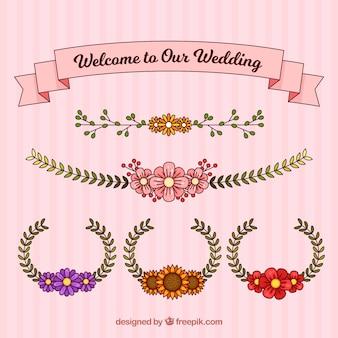 Wedding wreaths and ribbon