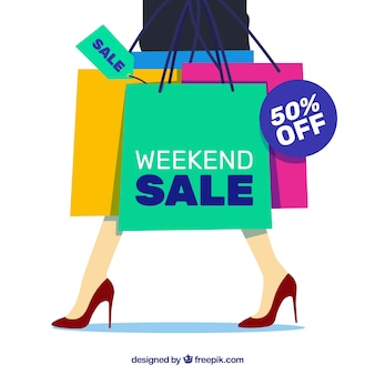 Weekend sale background