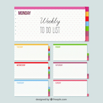Weekly planner with notes