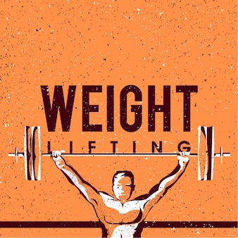 Weight lifting background