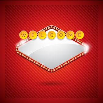 Welcome background design