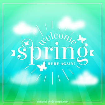 Welcome spring blur background