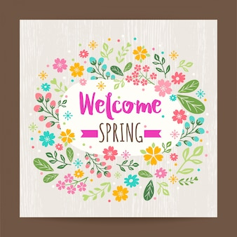 Welcome spring floral background