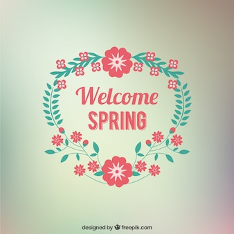 Welcome Spring floral card
