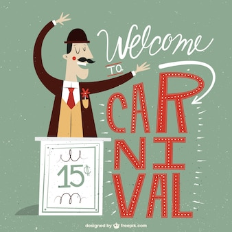 Welcome to carnival illustration
