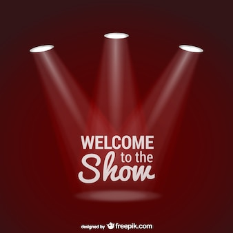 Welcome to the show background with spotlights