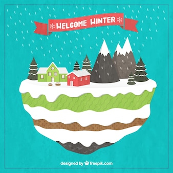 Welcome winter illustration