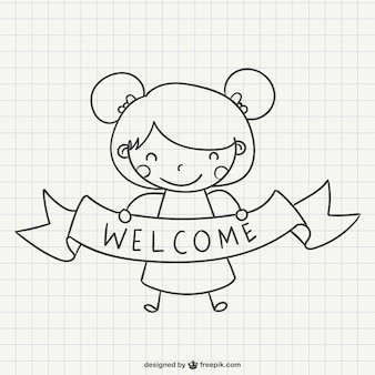 Welcoming girl