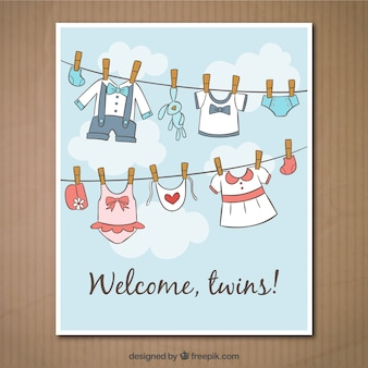 Wellcome twins card